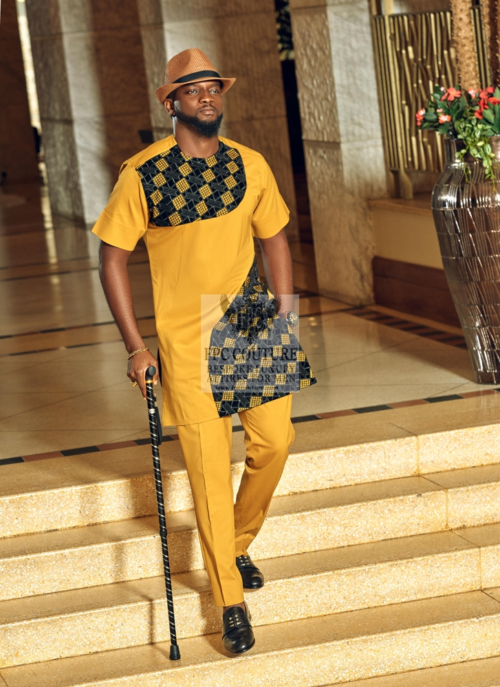 Sleek Yellow Kaftan