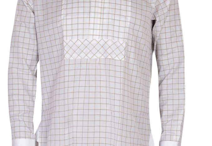 FPC White and Brown Check Long Sleeves Shirt