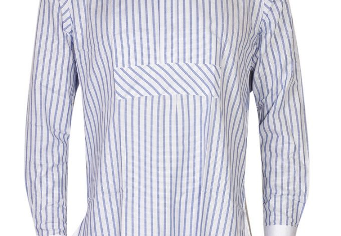 FPC White and Blue Stripes Long Sleeves Shirt